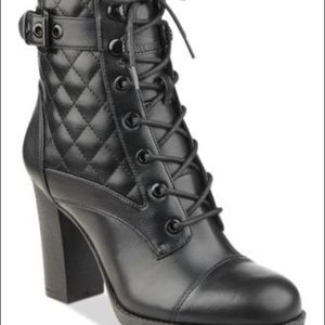 Guess Quilted Combat Boots